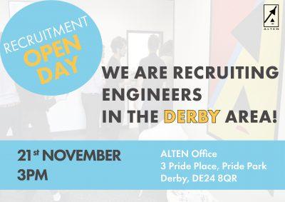 Derby Recruitment Open Day, November 21st